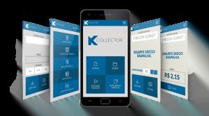 coletor de dados Aplicativo KCollector e várias telas
