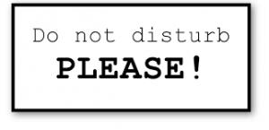 Placa de por favor não perturbe