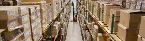 imagem de um depósito de mercadorias