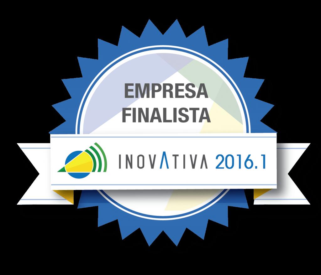 Selo Empresa Finalista no Inovativa Brasil 2016 recebido pelo KCollector.