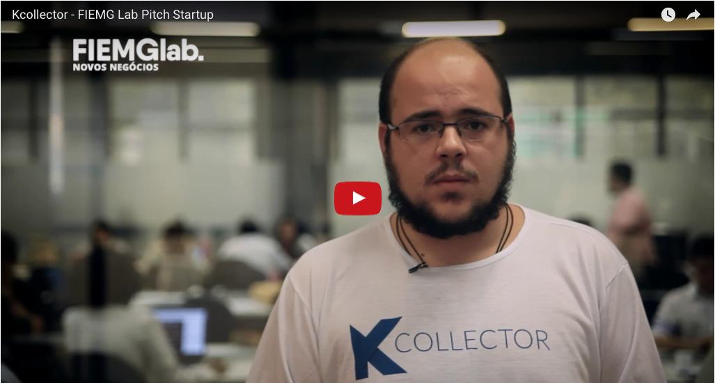 Sócio fundador Guilherme Biber apresentando o pitch do KCollector para o FIEMG Lab no SouBH